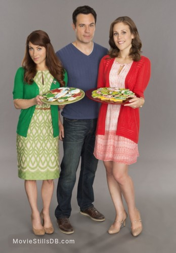 A Cookie Cutter Christmas - Promo shot of Erin Krakow & David Haydn-jones