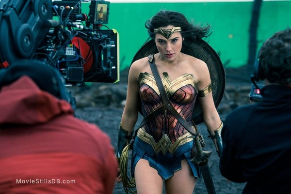 Wonder Woman - Behind the scenes photo of Gal Gadot