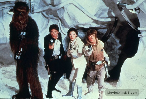 Star Wars: Episode V - The Empire Strikes Back - Promo shot of Harrison Ford, Carrie Fisher, Mark Hamill & Peter Mayhew