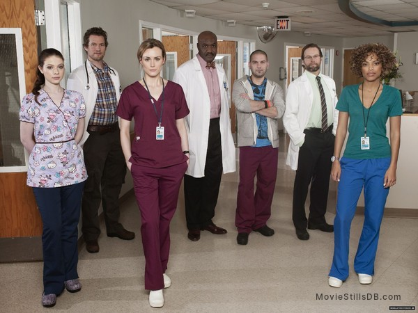 Mercy - Promo shot of Michelle Trachtenberg, Jaime Lee Kirchner, Taylor Schilling, James Le Gros, Delroy Lindo & James Tupper