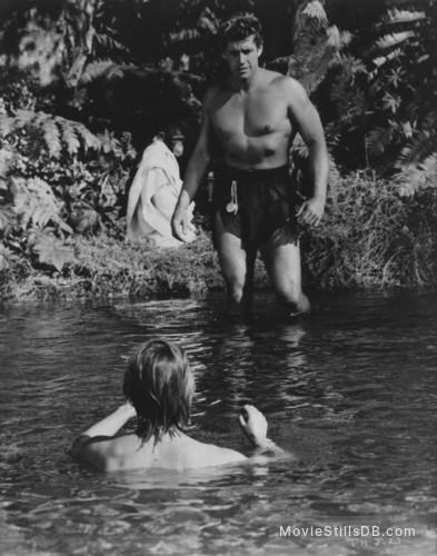 Tarzan's Hidden Jungle - Publicity still of Vera Miles & Gordon Scott