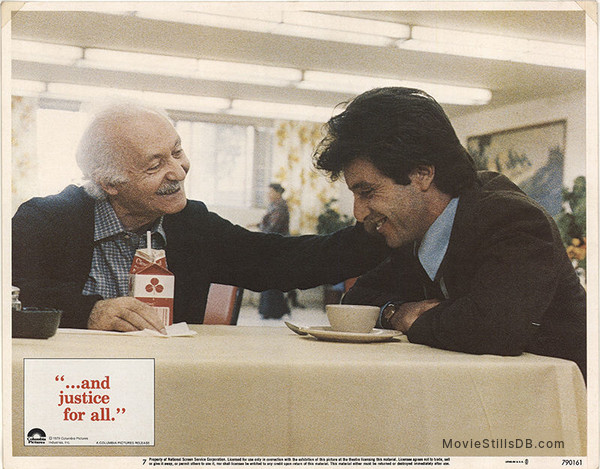 ...And Justice for All - Lobby card with Lee Strasberg & Al Pacino