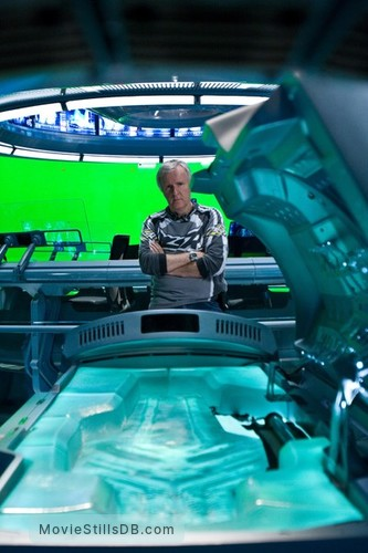 Avatar - Behind the scenes photo of James Cameron