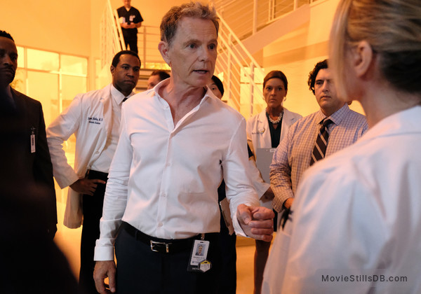 'The Resident' season 2 premiere. Bell is shouting at a random doctor