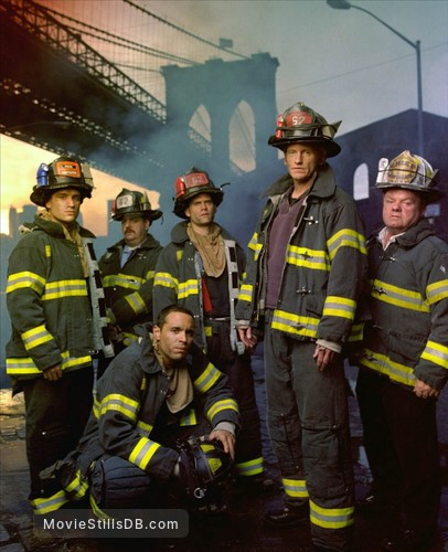 Rescue Me - Promo shot of Daniel Sunjata, Michael Lombardi, Steven Pasquale, John Scurti, Jack McGee & Denis Leary