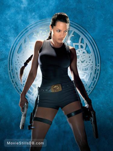 Lara Croft: Tomb Raider - Promotional art with Angelina Jolie