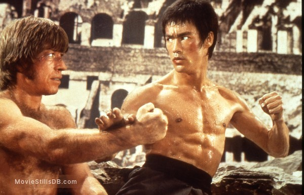 Meng long guo jiang - Publicity still of Bruce Lee & Chuck Norris