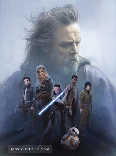 Star Wars: The Last Jedi - Promotional art with Mark Hamill, Daisy Ridley, Oscar Isaac, John Boyega & Kelly Marie Tran