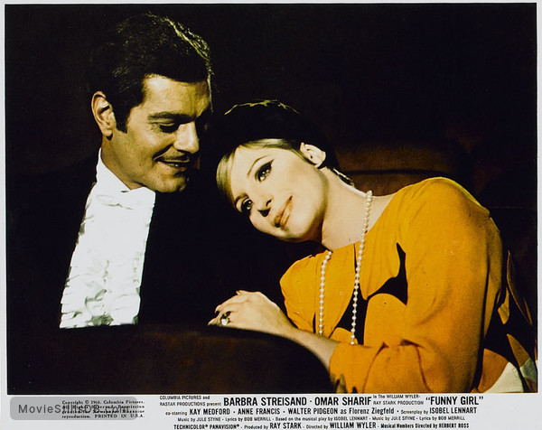 Funny Girl - Lobby card with Barbra Streisand & Omar Sharif