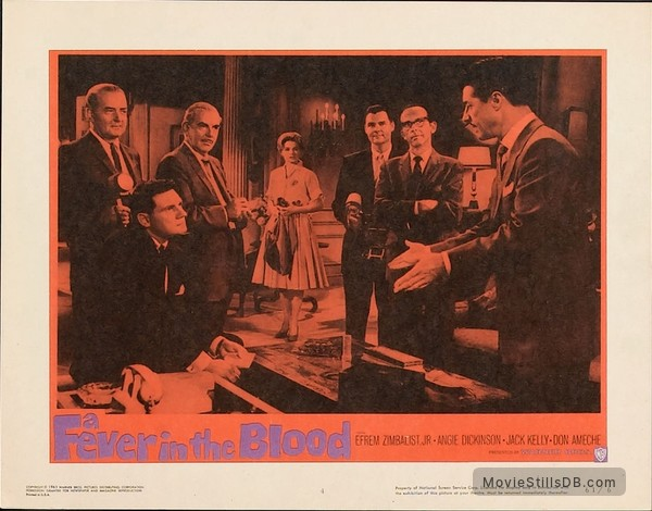 A Fever in the Blood - Lobby card with Don Ameche & Angie Dickinson