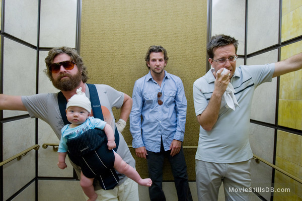The Hangover - Publicity still of Bradley Cooper, Zach Galifianakis & Ed Helms