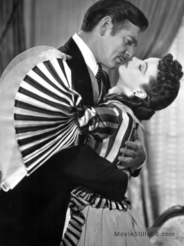 Gone with the Wind - Publicity still of Vivien Leigh & Clark Gable