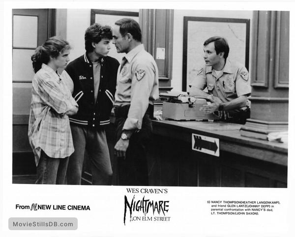 A Nightmare On Elm Street - Publicity still of Johnny Depp, Heather Langenkamp & John Saxon