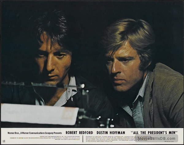 All the President's Men - Lobby card with Dustin Hoffman & Robert Redford