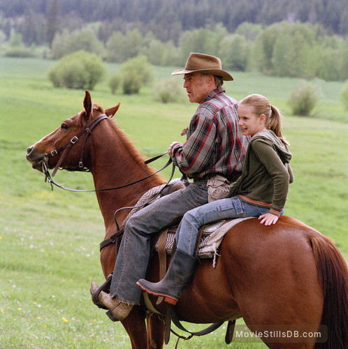 An Unfinished Life - Publicity still of Robert Redford & Becca Gardner