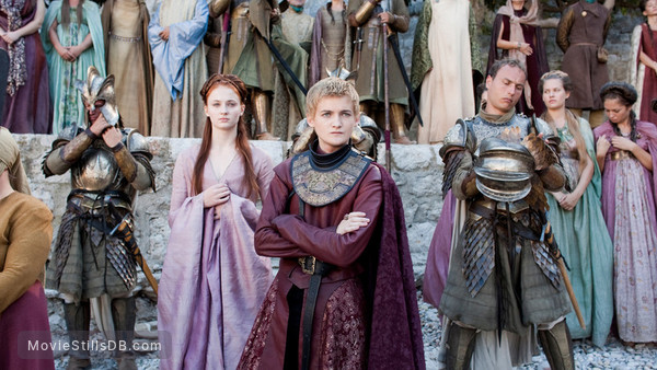 Game of Thrones - Publicity still of Jack Gleeson & Sophie Turner
