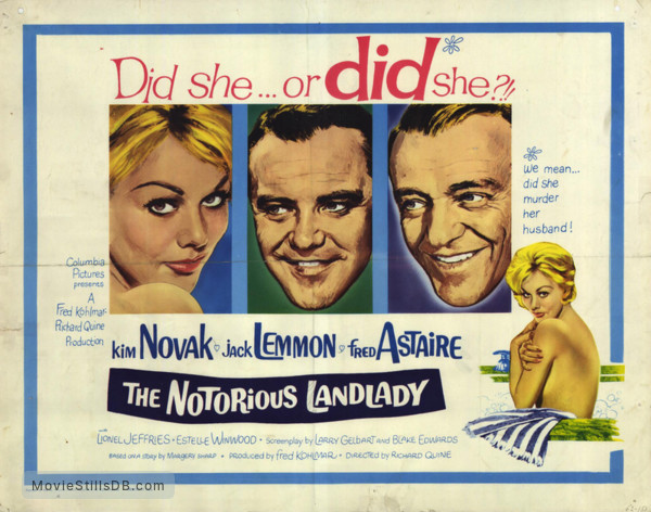 Image result for the notorious landlady 1962