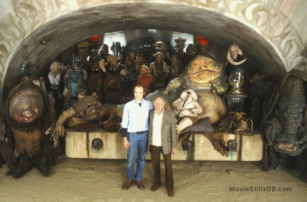 Star Wars: Episode VI - Return of the Jedi - Behind the scenes photo of Phil Tippett & Stuart Freeborn