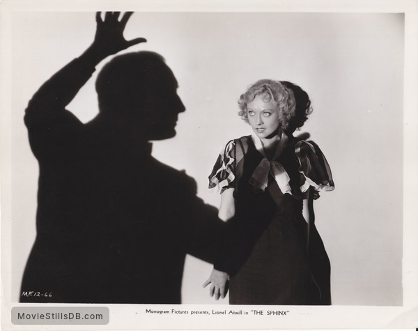 The Sphinx - Promo shot of Lionel Atwill & Sheila Terry