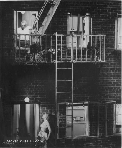 Rear Window - Publicity still of Raymond Burr & Grace Kelly
