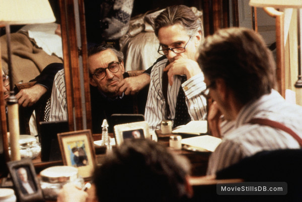 Damage - Behind the scenes photo of Louis Malle & Jeremy Irons