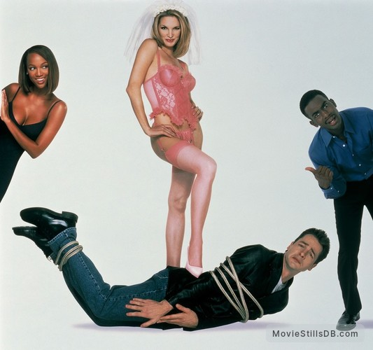 Love Stinks - Promotional art with Bridgette Wilson, French Stewart, Tyra Banks & Bill Bellamy