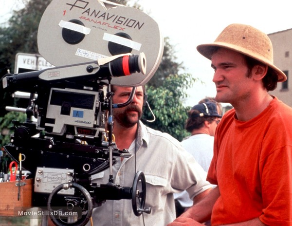 Pulp Fiction - Behind the scenes photo of Quentin Tarantino