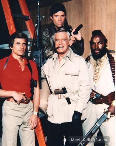 The A-Team - Promo shot of Mr. T, George Peppard, Dirk Benedict & Dwight Schultz