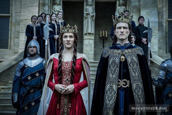 Knightfall - Publicity still of Olivia Ross & Ed Stoppard