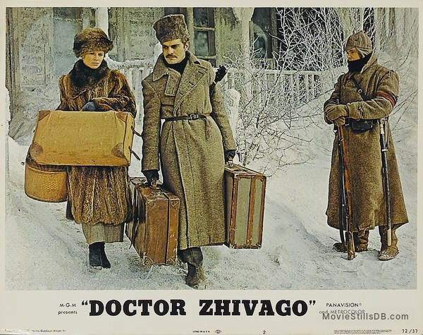 Doctor Zhivago - Lobby card with Omar Sharif & Julie Christie