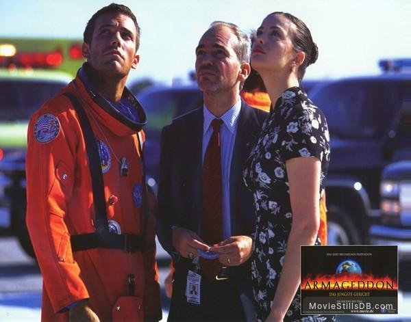 Armageddon - Lobby card with Ben Affleck, Liv Tyler & Billy Bob Thornton