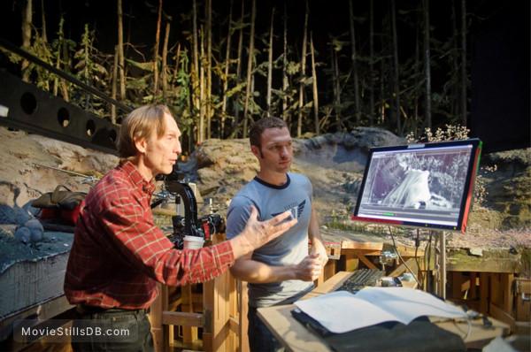 Coraline - Behind the scenes photo of Henry Selick & Travis Knight -ii-