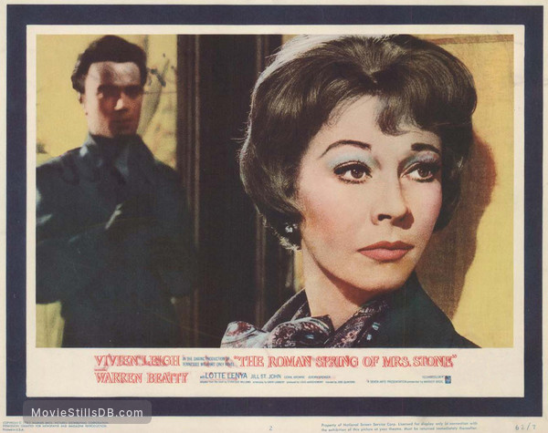 The Roman Spring of Mrs. Stone - Lobby card with Vivien Leigh