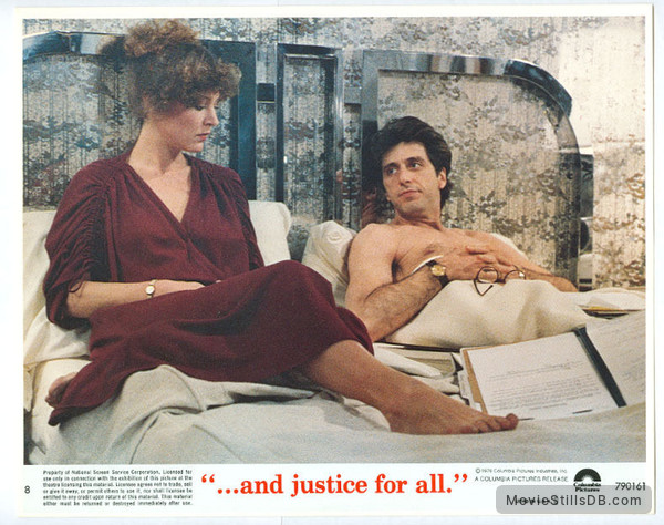 ...And Justice for All - Lobby card with Christine Lahti & Al Pacino