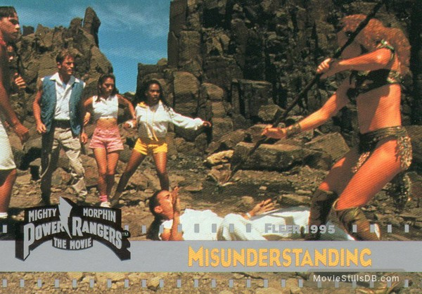 Mighty Morphin Power Rangers: The Movie - Lobby card with Amy Jo Johnson, Jason David Frank, Johnny Yong Bosch, David Yost, Steve Cardenas, Karan Ashley & Gabrielle Fitzpatrick