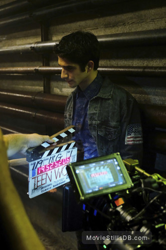 Teen Wolf - Behind the scenes photo of Tyler Posey