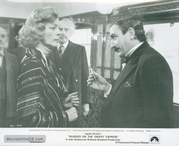 Murder on the Orient Express - Publicity still of Albert Finney, Lauren Bacall & Martin Balsam