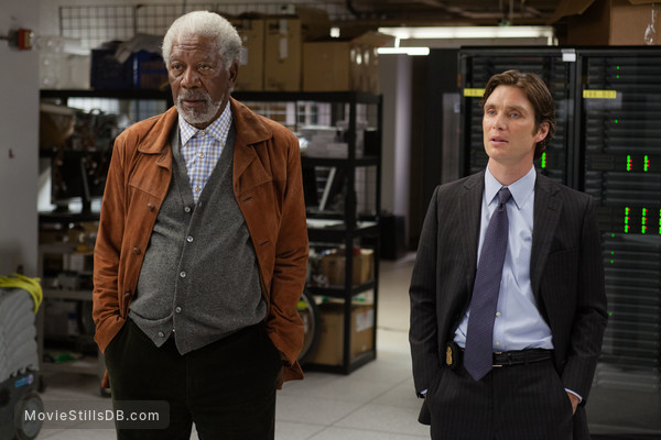 Transcendence - Publicity still of Cillian Murphy & Morgan Freeman