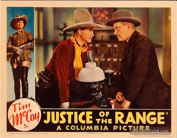 Justice of the Range - Lobby card