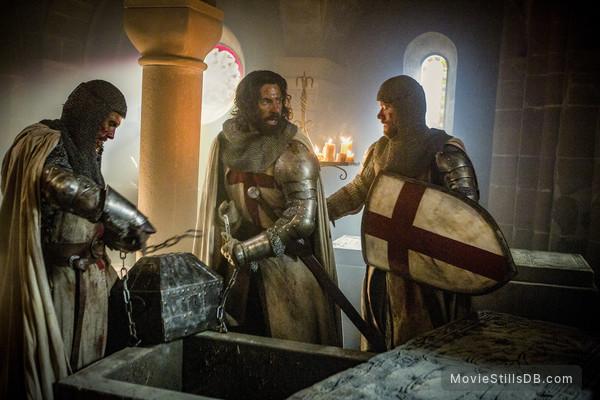 Knightfall - Publicity still of Simon Merrells & Tom Cullen