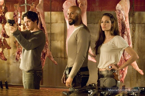 Wanted - Publicity still of Angelina Jolie, James McAvoy & Common