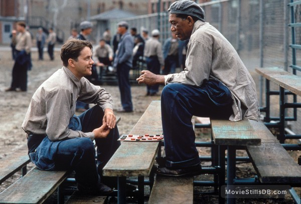 The Shawshank Redemption - Publicity still of Morgan Freeman & Tim Robbins