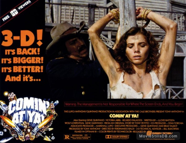 Comin' at Ya! - Lobby card with Victoria Abril