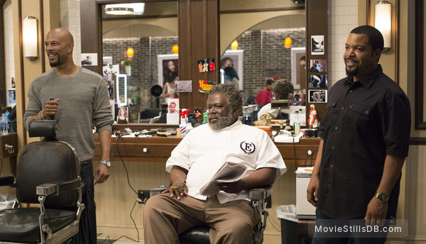 Barbershop: The Next Cut - Publicity still of Ice Cube, Common & Cedric the Entertainer