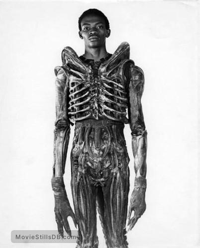 Alien - Behind the scenes photo of Bolaji Badejo