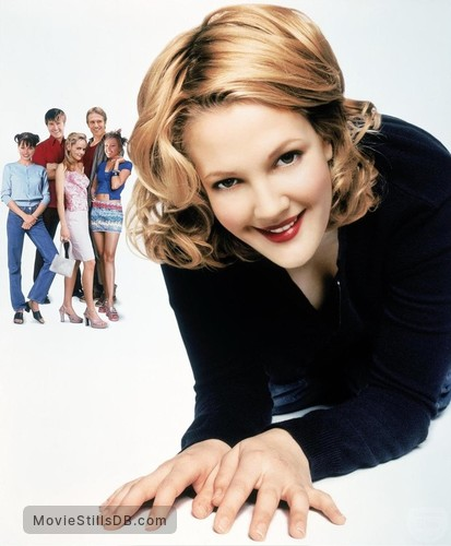 never been kissed promotional art with drew barrymore