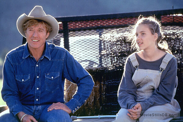 The Horse Whisperer - Publicity still of Robert Redford & Scarlett Johansson