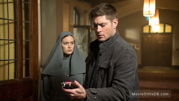 Supernatural - Publicity still of Jensen Ackles & Rachel Keller