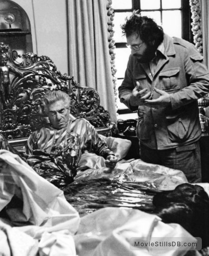 The Godfather - Behind the scenes photo of Francis Ford Coppola & John Marley