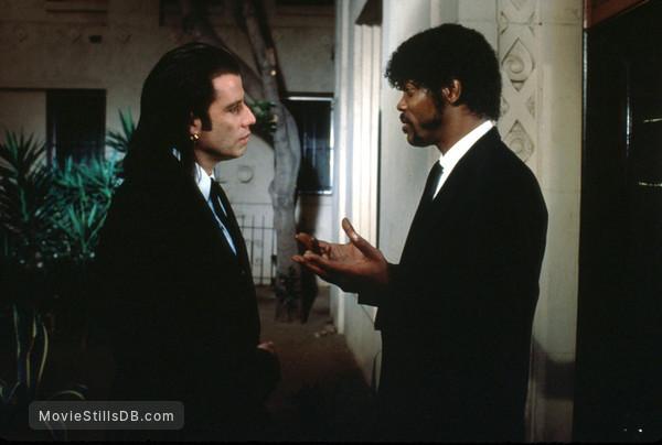 Pulp Fiction - Publicity still of Samuel L. Jackson & John Travolta